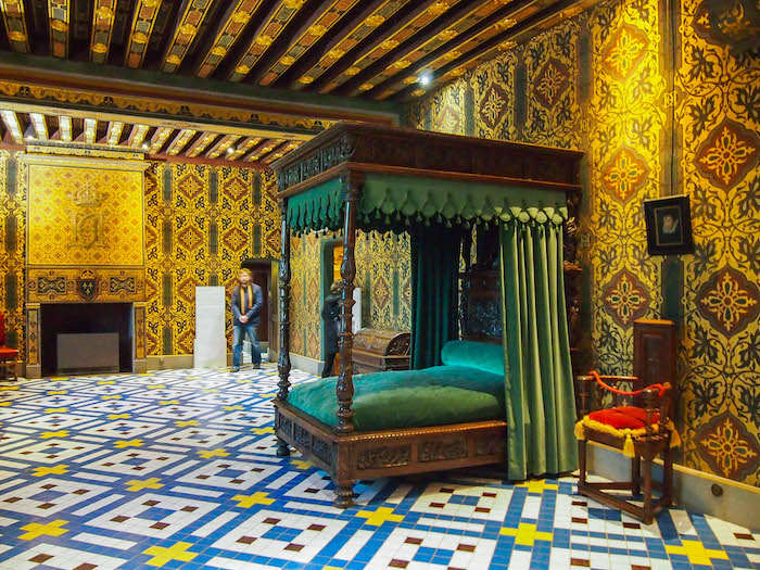 Henry III's bedroom where Duke de Guise was assassinated