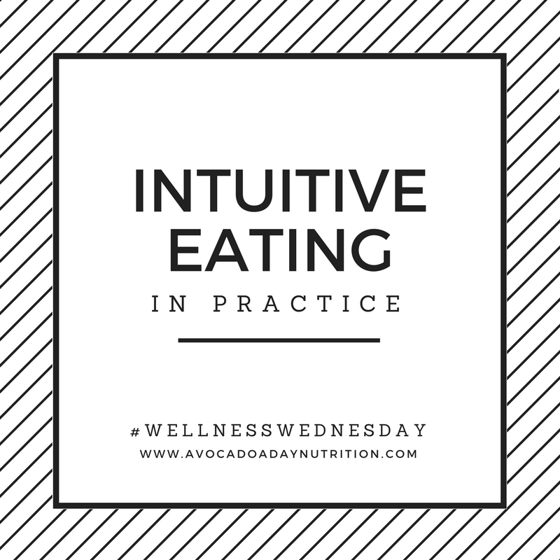 Intuitive eating in practice
