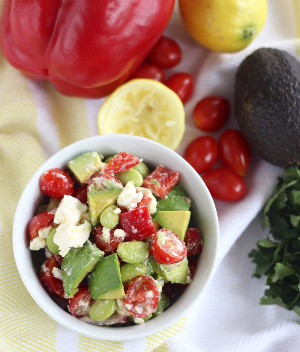 Edamame Salsa with Avocado and Feta