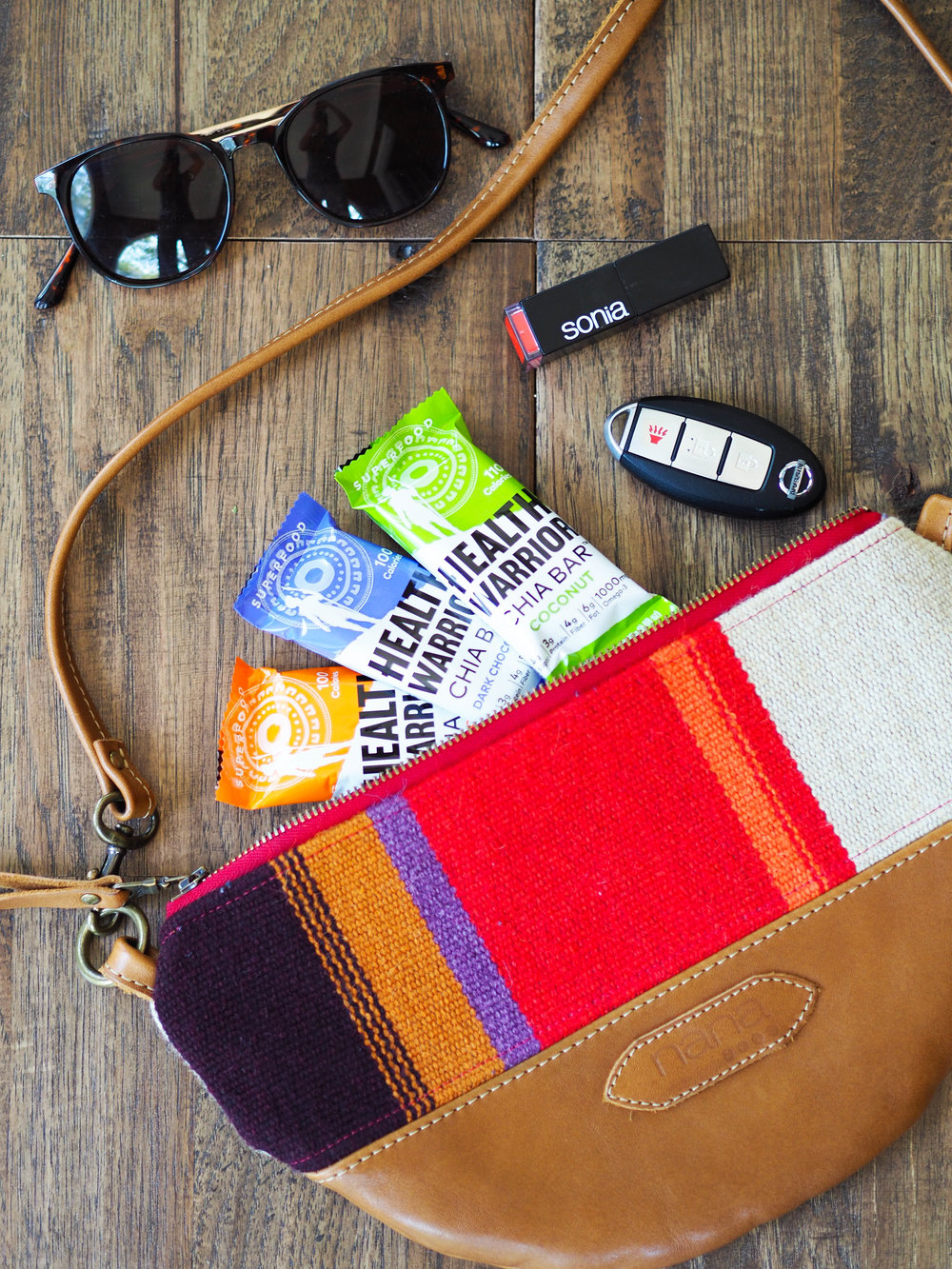 Don't forget to pack Health Warrior chia bars in your purse for a quick snack!