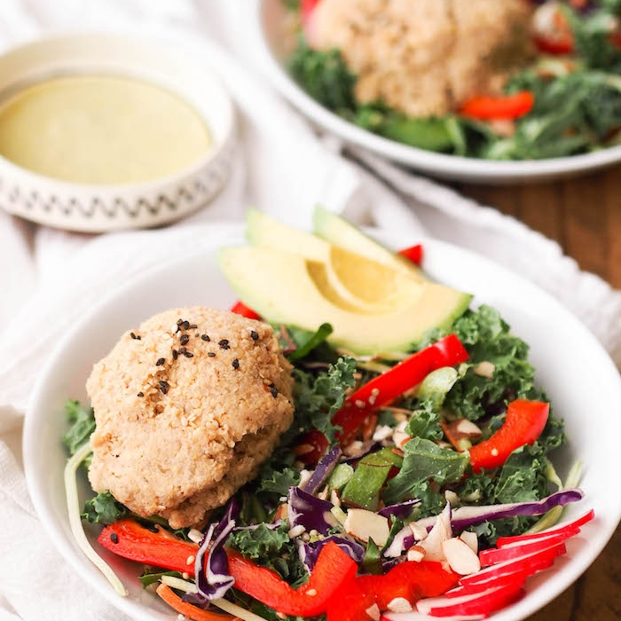 Asian Quinoa and Tempeh Salad with Wild Greens