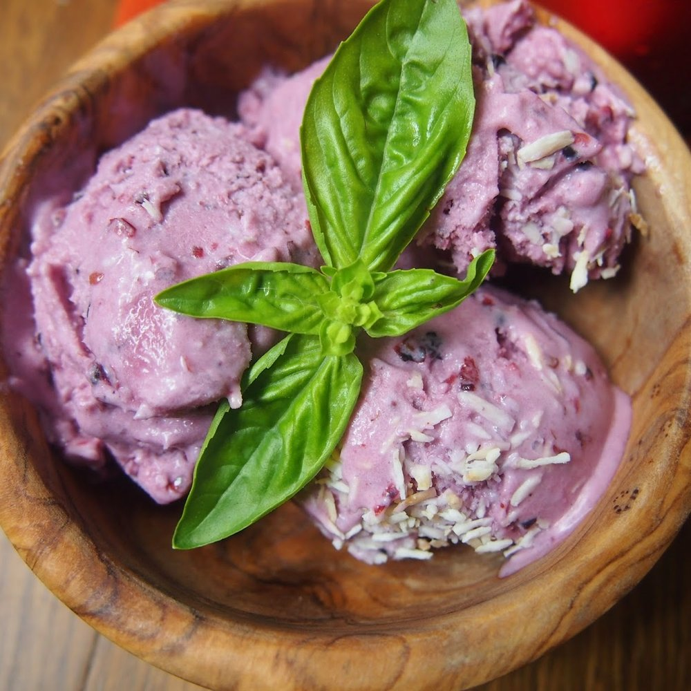 Blackberry Coconut Milk Ice Cream