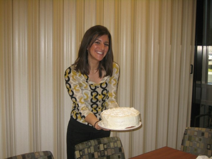 My last day of work as a clinical dietitian. Yummy cake courtesy of my boss who was a master baker!