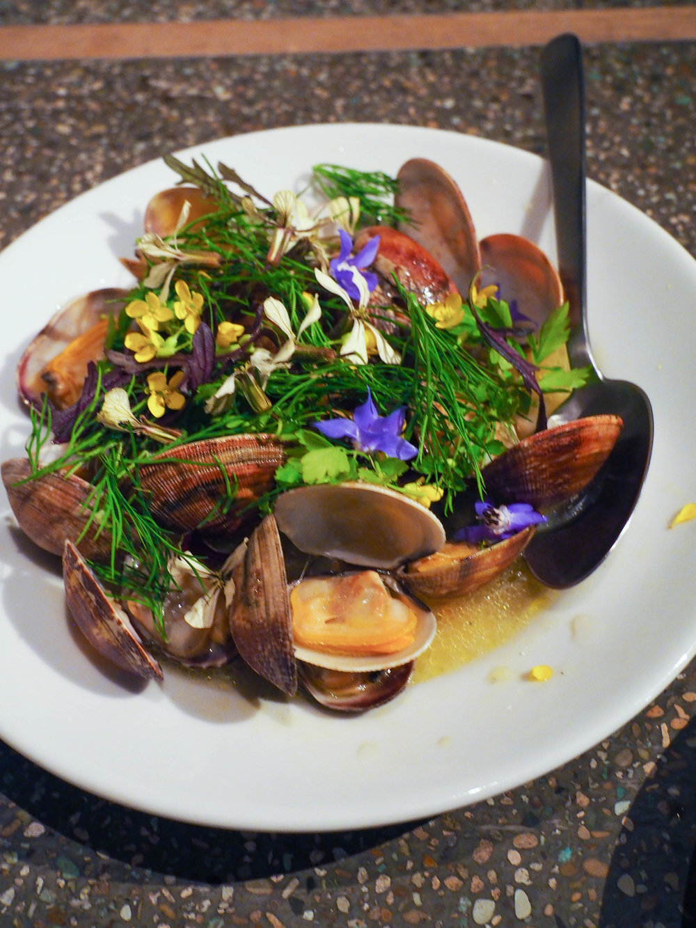 Clams with dill and a yuzu broth