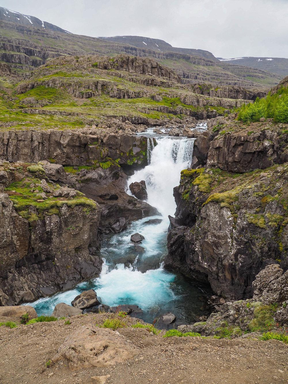 Waterfall near Djúpivogur