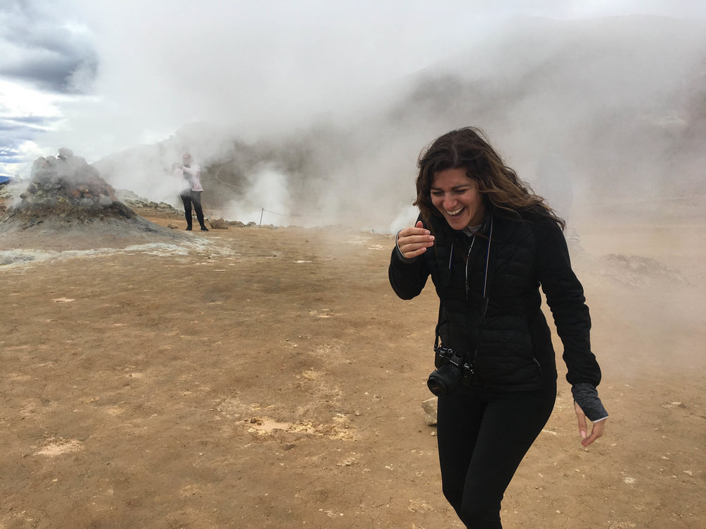 When you're trying to get a picture in front of a steam hole and the wind changes direction. Mmmm....eggy steam facial!