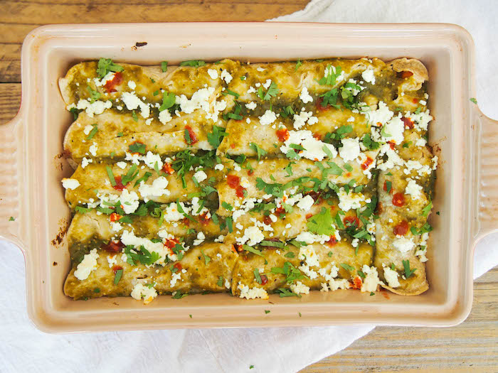 Breakfast Enchiladas with Sweet Potatoes