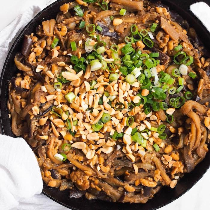 Dan Dan Eggplant Noodles