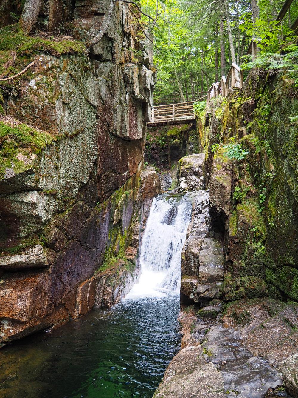 Waterfall of Kancamagus Highway