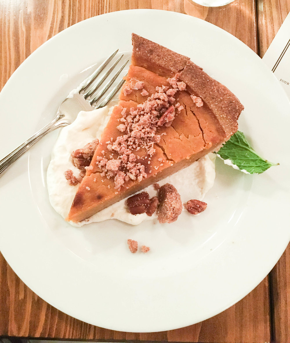 Pumpkin pie with whole grain crust