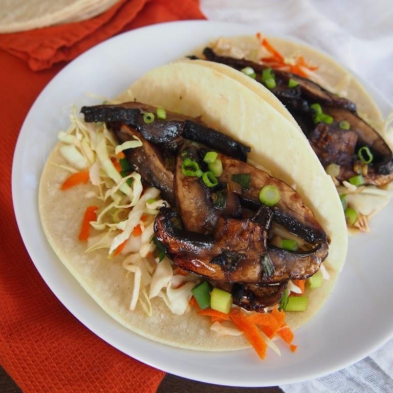 Portobello Bulgogi Korean Tacos