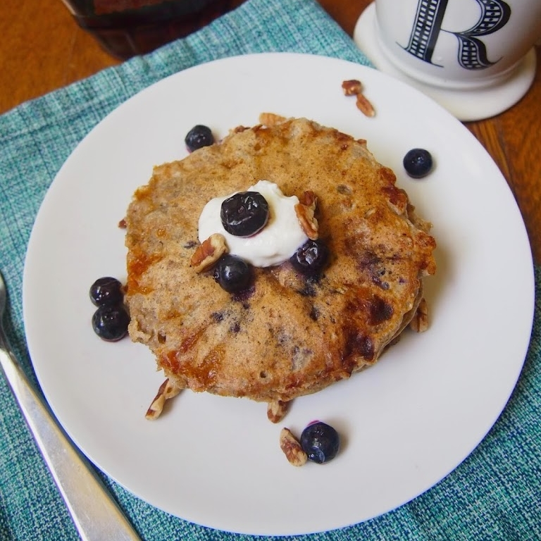 Multigrain Blueberry Cottage Cheese Pancakes