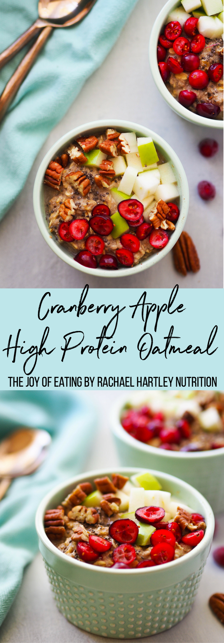 Cranberry Apple High Protein Oatmeal