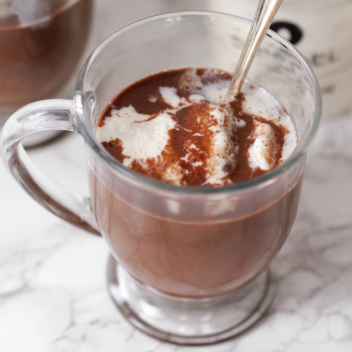Hot Chocolate Ice Cream Float