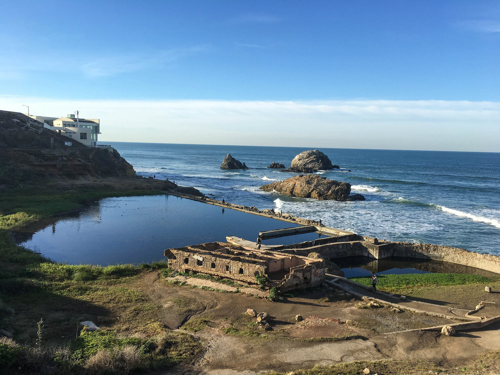 Ruins of the Sutro Baths. Kinda cool to imagine what it used to look like.