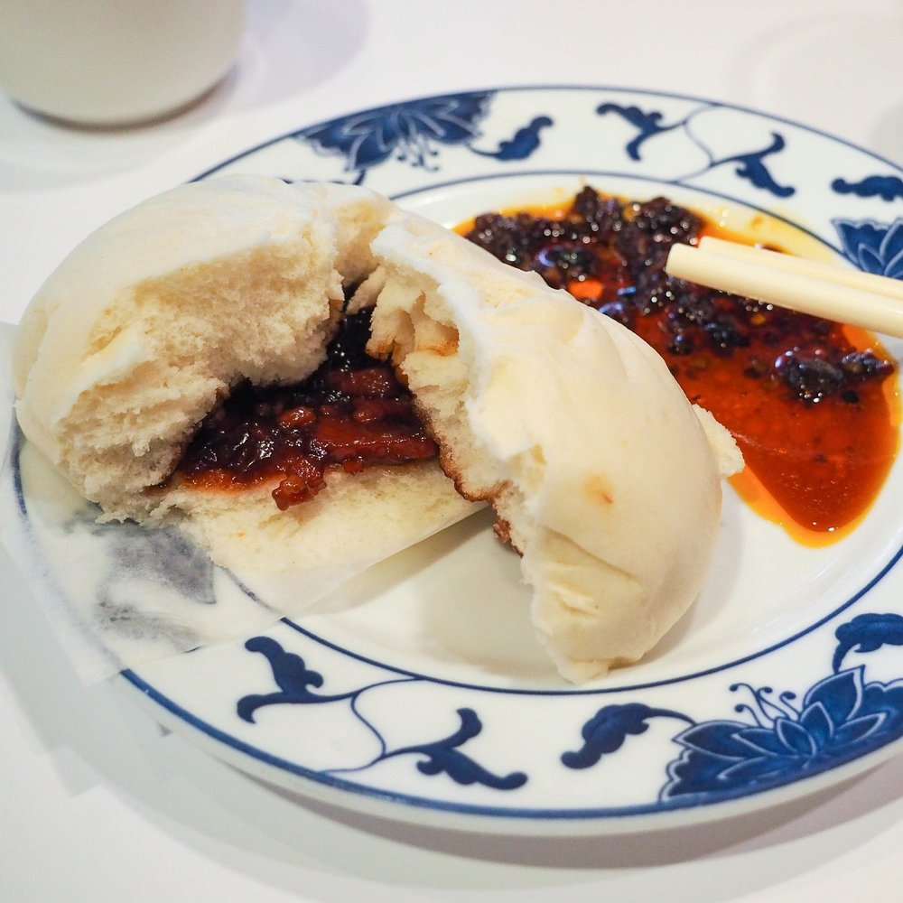 Steamed pork bun