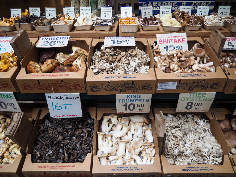 I picked up a few packs of mushrooms to cook for Thanksgiving and some dried chestnut mushrooms to bring back home.