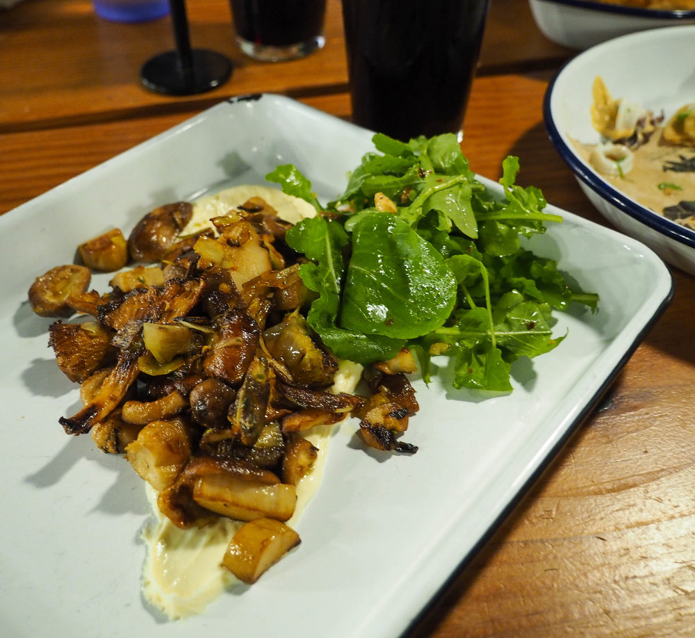 My favorite dish was actually the mushrooms with fonduta. Wild mushrooms are my spirit food.