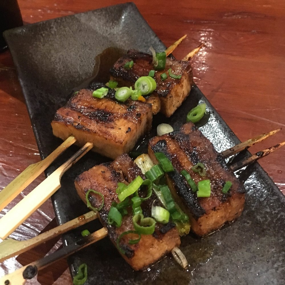 Pork belly yakitori