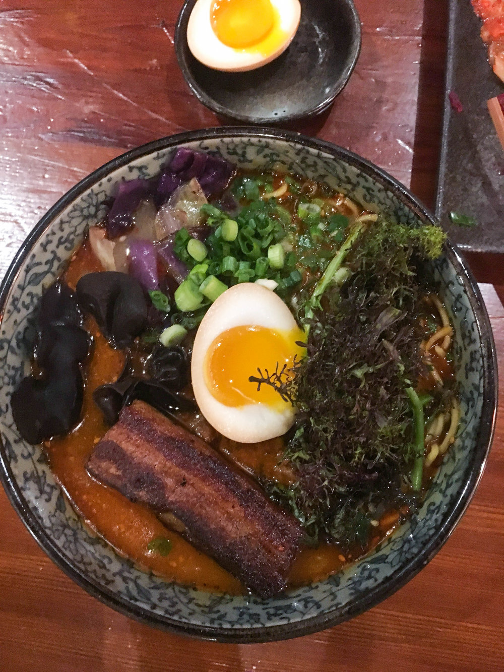 Scott's spicy pork belly ramen