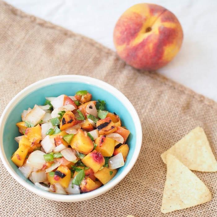 Grilled Peach and Vidalia Onion Salsa