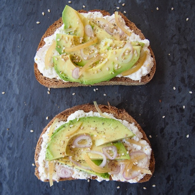 Avocado Toast with Ricotta and Preserved Lemon