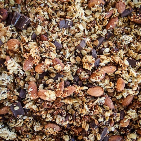 Low Sugar Dark Chocolate Granola