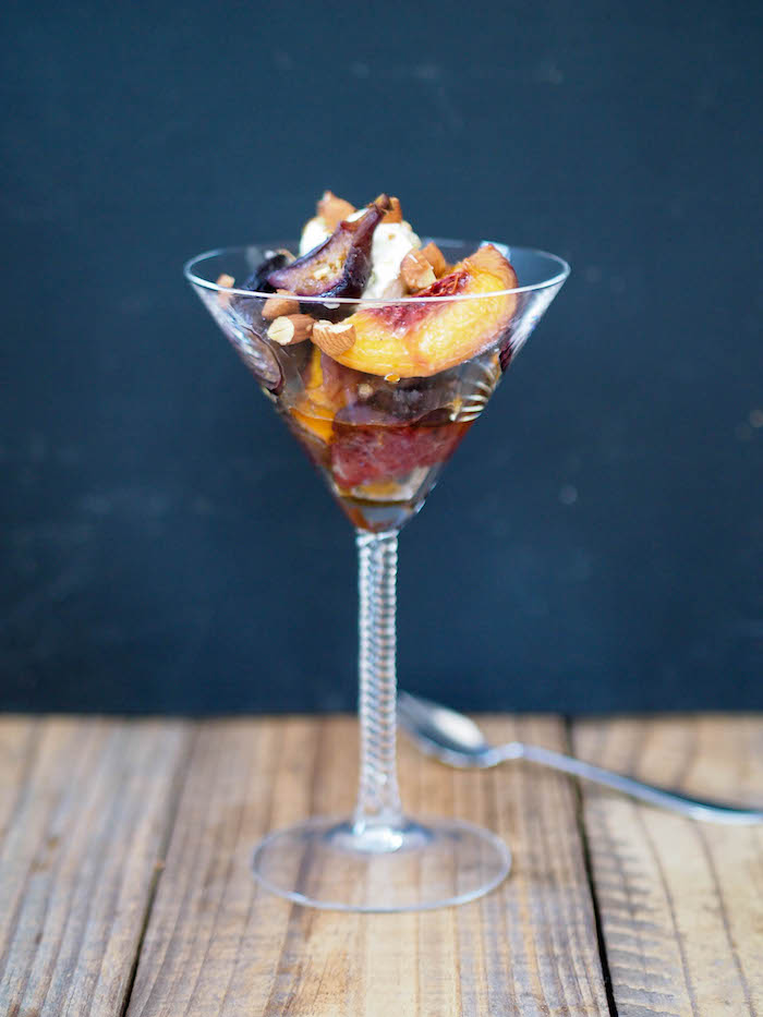 Roasted Figs and Peaches with Mascarpone
