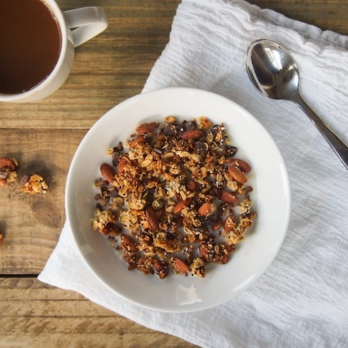 Low Sugar Dark Chocolate Almond Granola