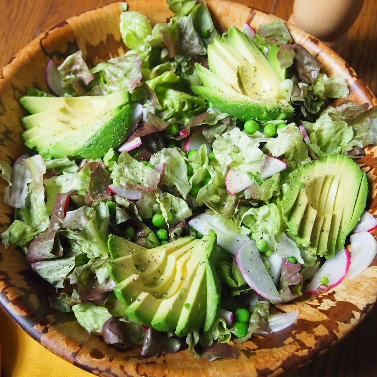Spring Salad with Avocado, Radish and Lemon-Mint Dressing