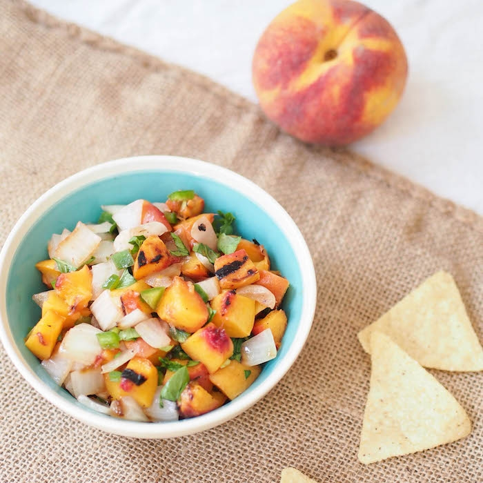 Grilled Peach and Vidalia Onion Salsa