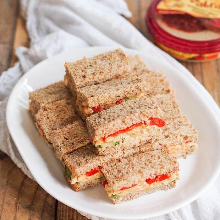 Chickpea Hummus Salad Sandwiches
