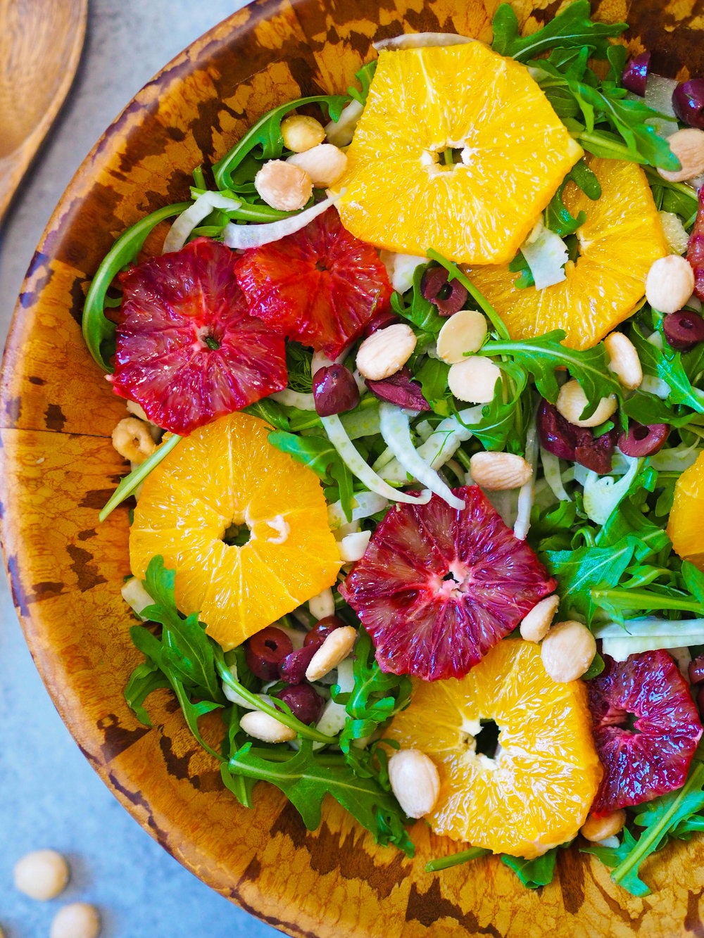 Citrus Arugula Salad with Fennel and Marcona Almonds