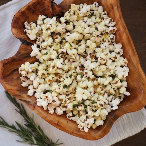 Truffle Rosemary Garlic Popcorn