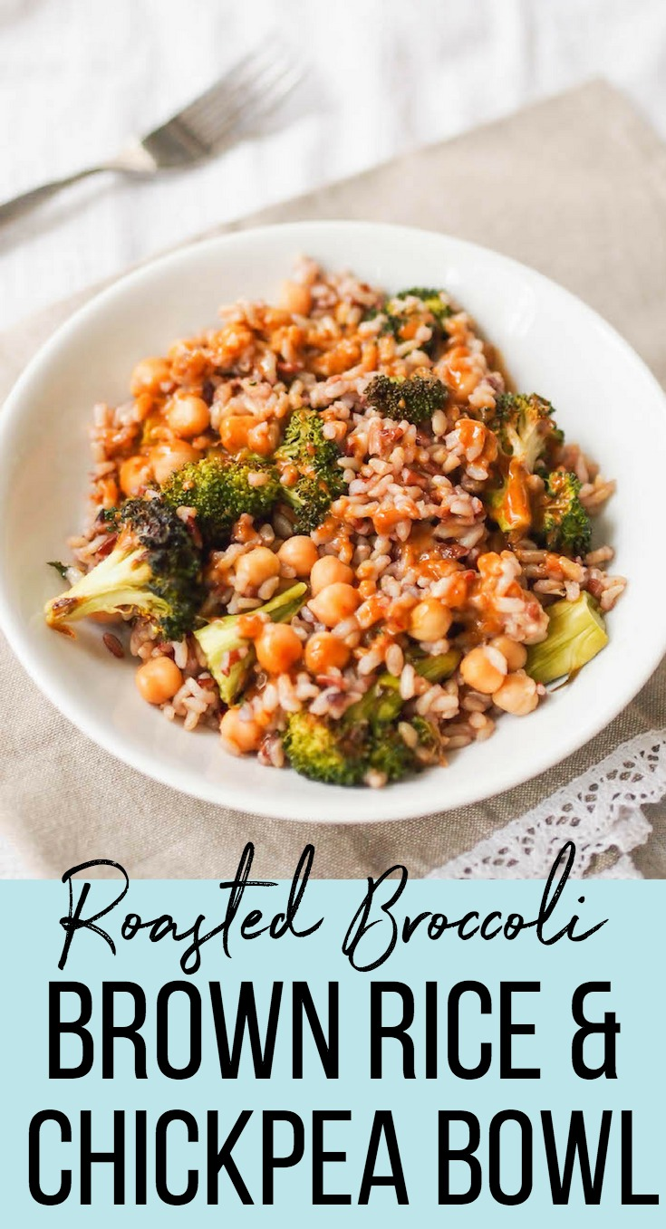 Broccoli, Brown Rice and Chickpea Bowl