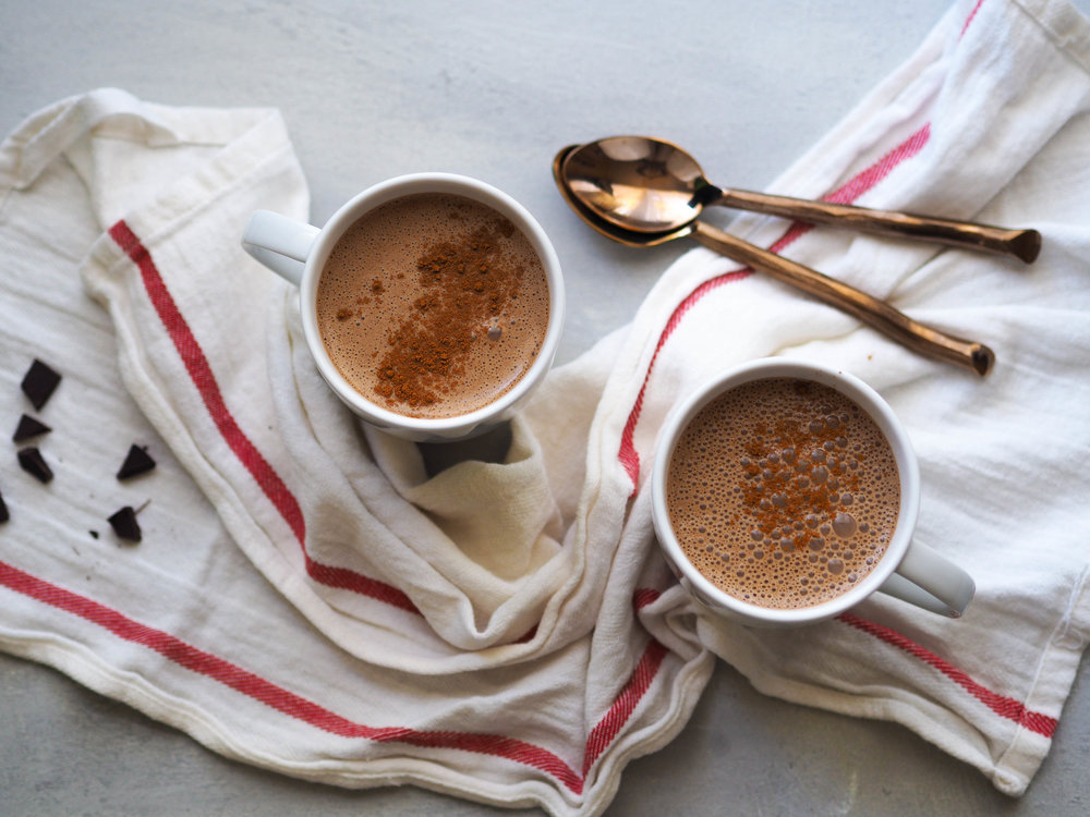 Make this spicy Mexican hot chocolate with chiles, almond meal and cinnamon!