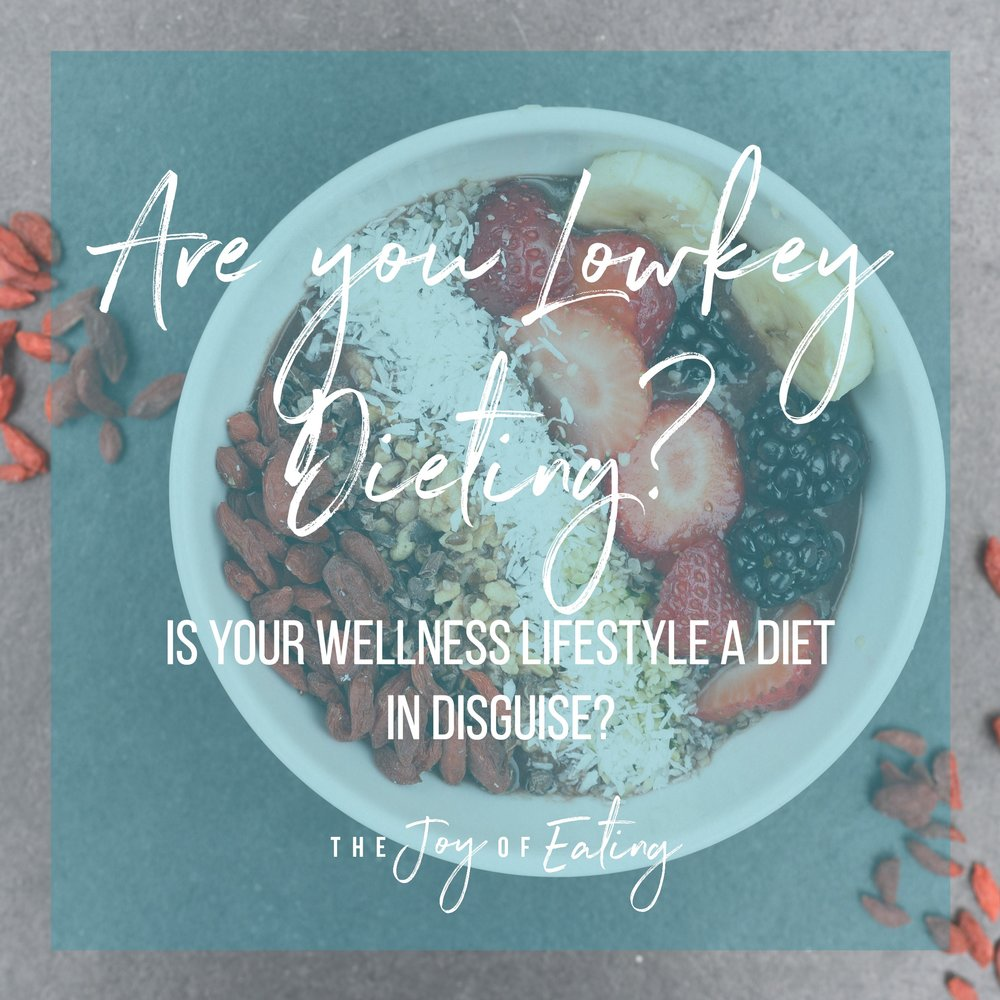 Is your healthy lifestyle a diet in disguise? #intutiveeating #wellness