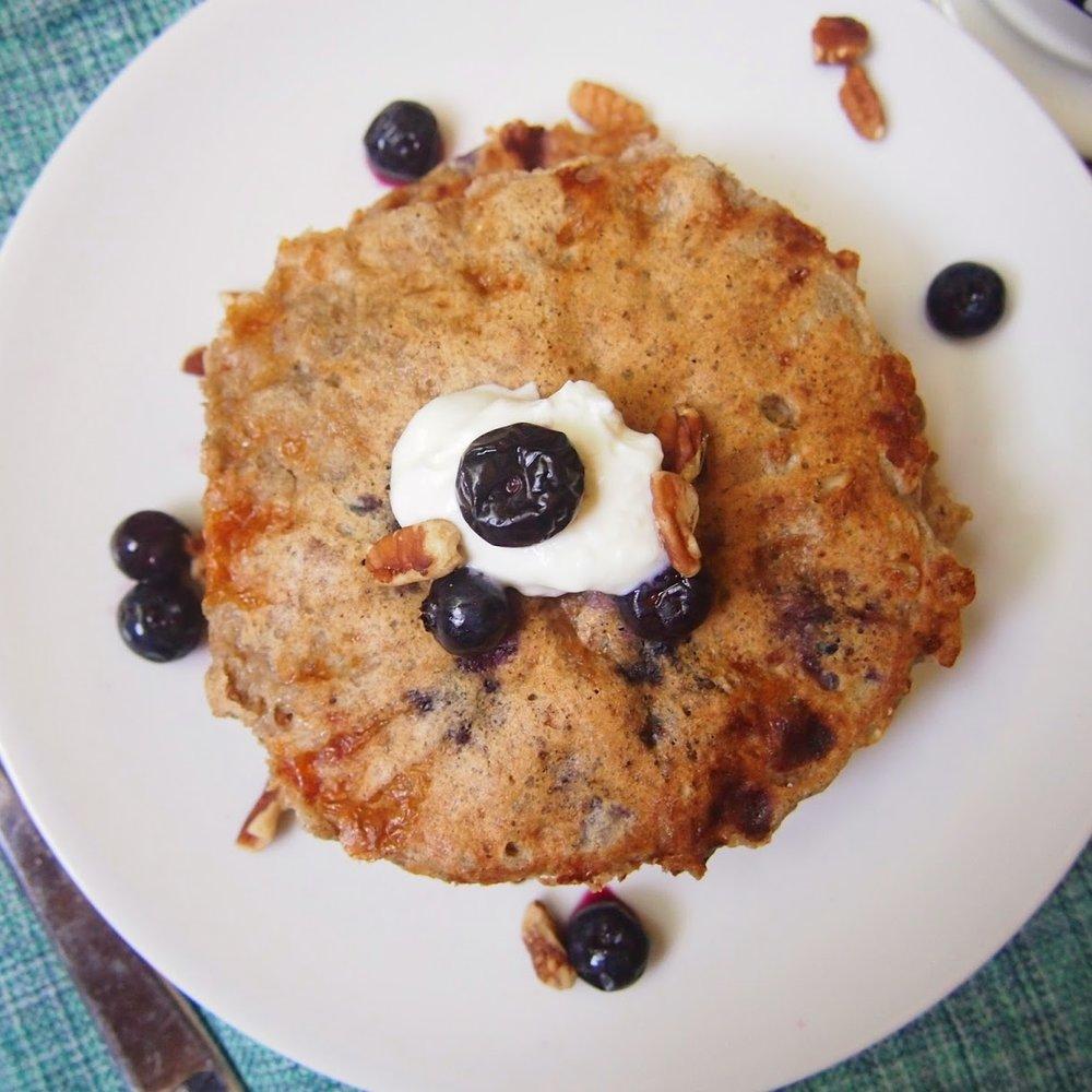 Multigrain Blueberry Cottage Cheese Pancakes