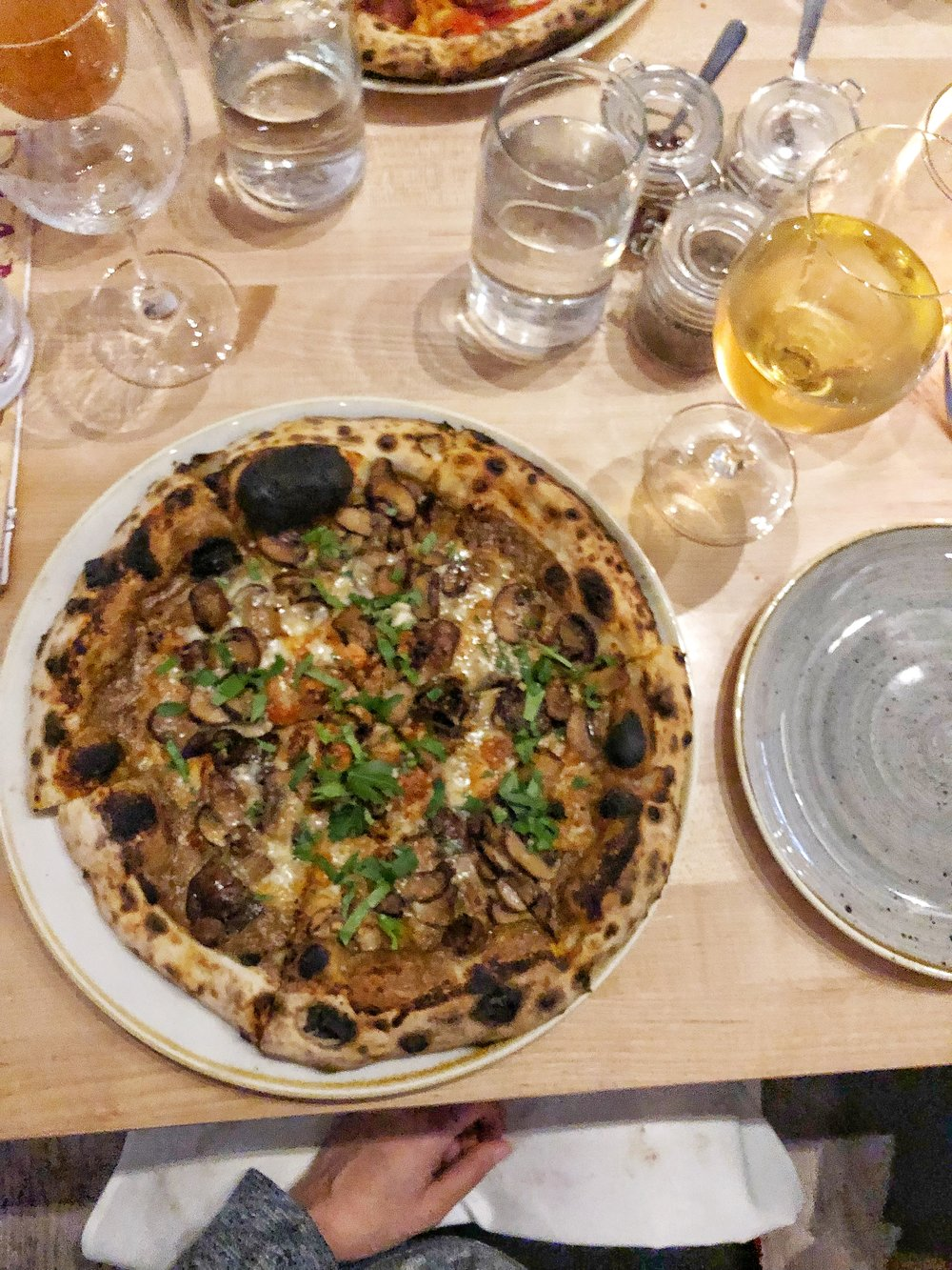 Mushroom pizza is the best pizza and it's even better when there are mushrooms AND mushroom sauce