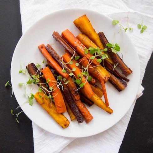 Chipotle Orange Roasted Carrots