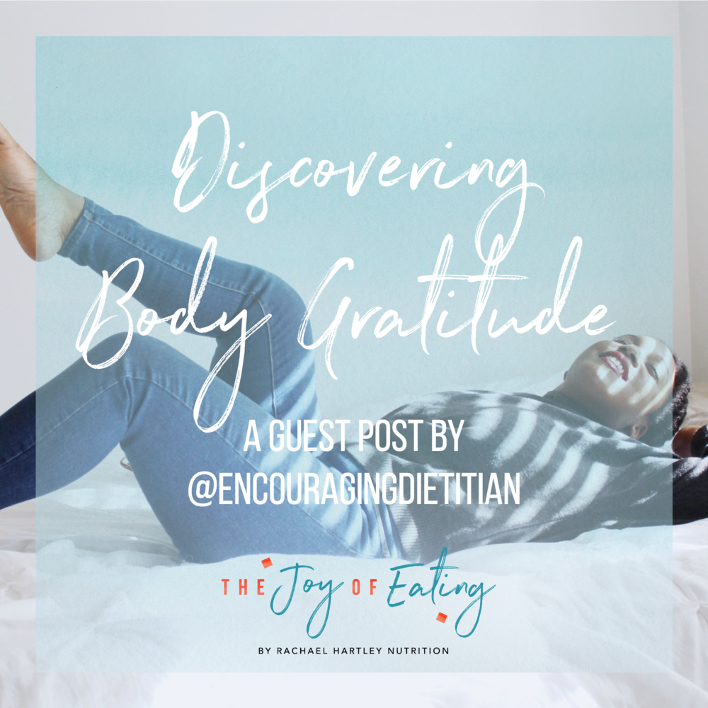 Learn how to discover body gratitude! It's different from body positivity, but critical for developing a better relationship with your body. #bodypositivity #intuitiveeating #haes #wellness