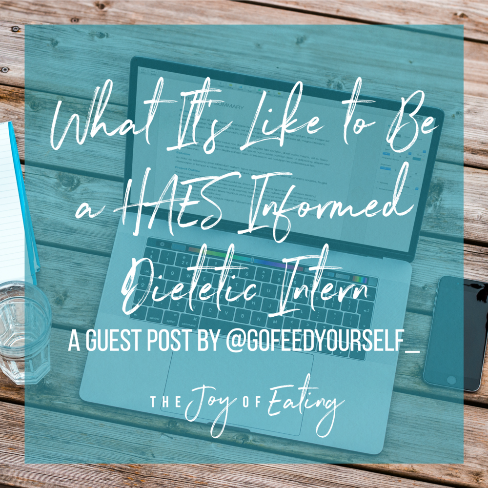 Are you a dietetic intern or dietitian who is informed on Health at Every Size, but working in an environment that isn't? Read this post for advice on how to handle it? #HAES #intuitiveeating #dietitian #RDchat #RD2Be