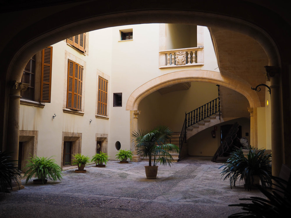 Courtyard of one of Palma's mansions