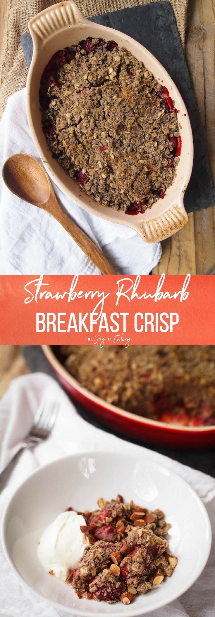 Strawberry Rhubarb Breakfast Crisp