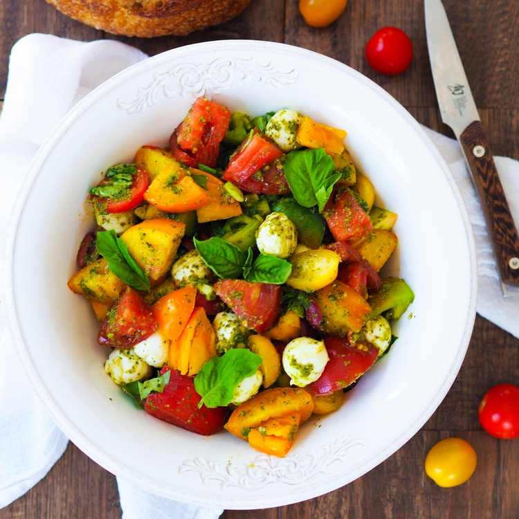 Chopped Heirloom Caprese Salad