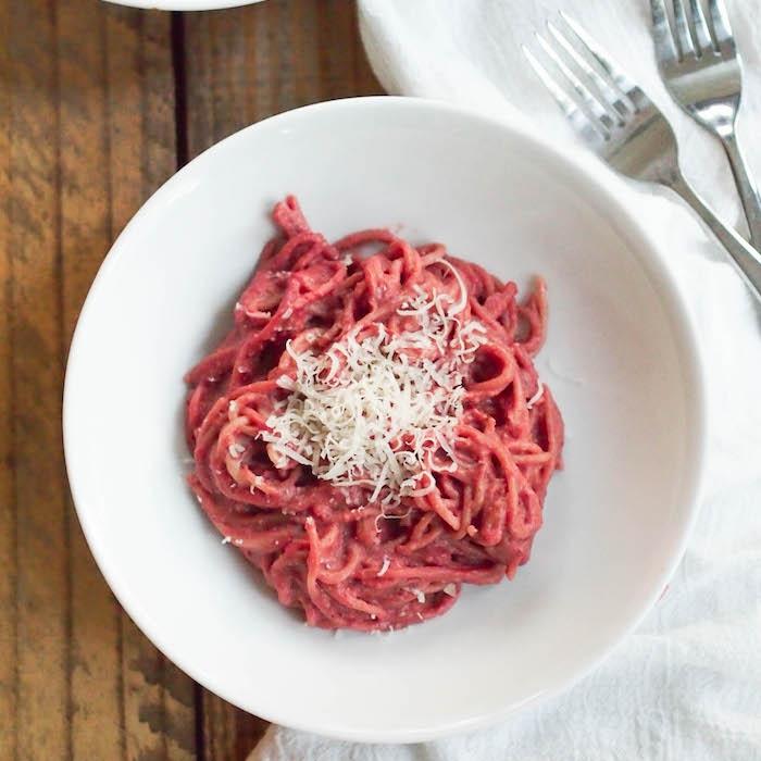 Beet Butter Spaghetti