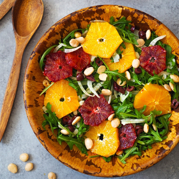 Citrus, Fennel and Arugula Salad with Marcona Almonds