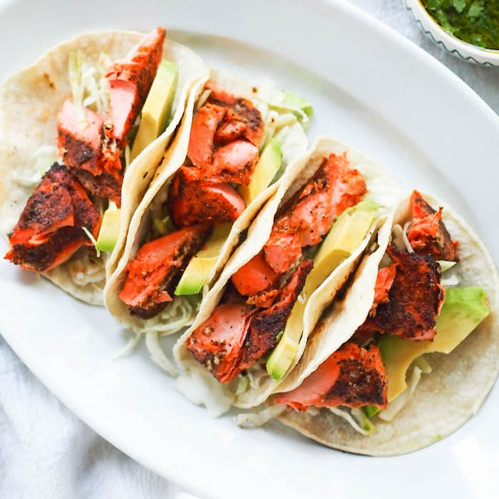Barbecue Salmon Tacos