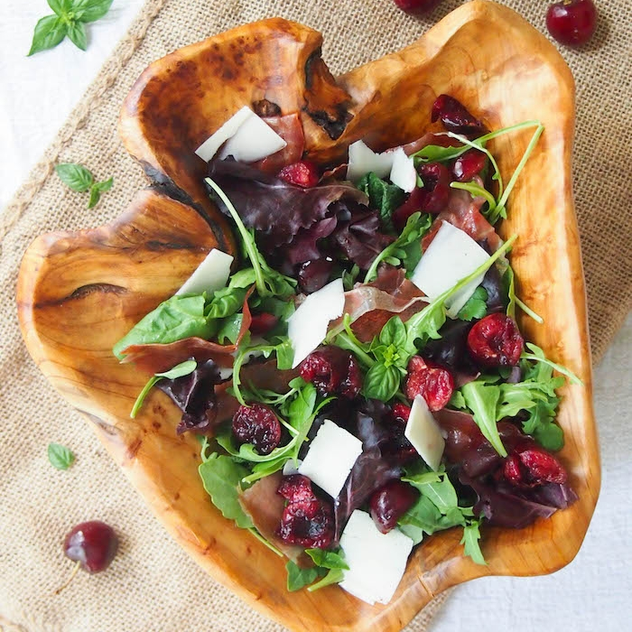 Crispy Prosciutto and Dark Cherry Salad