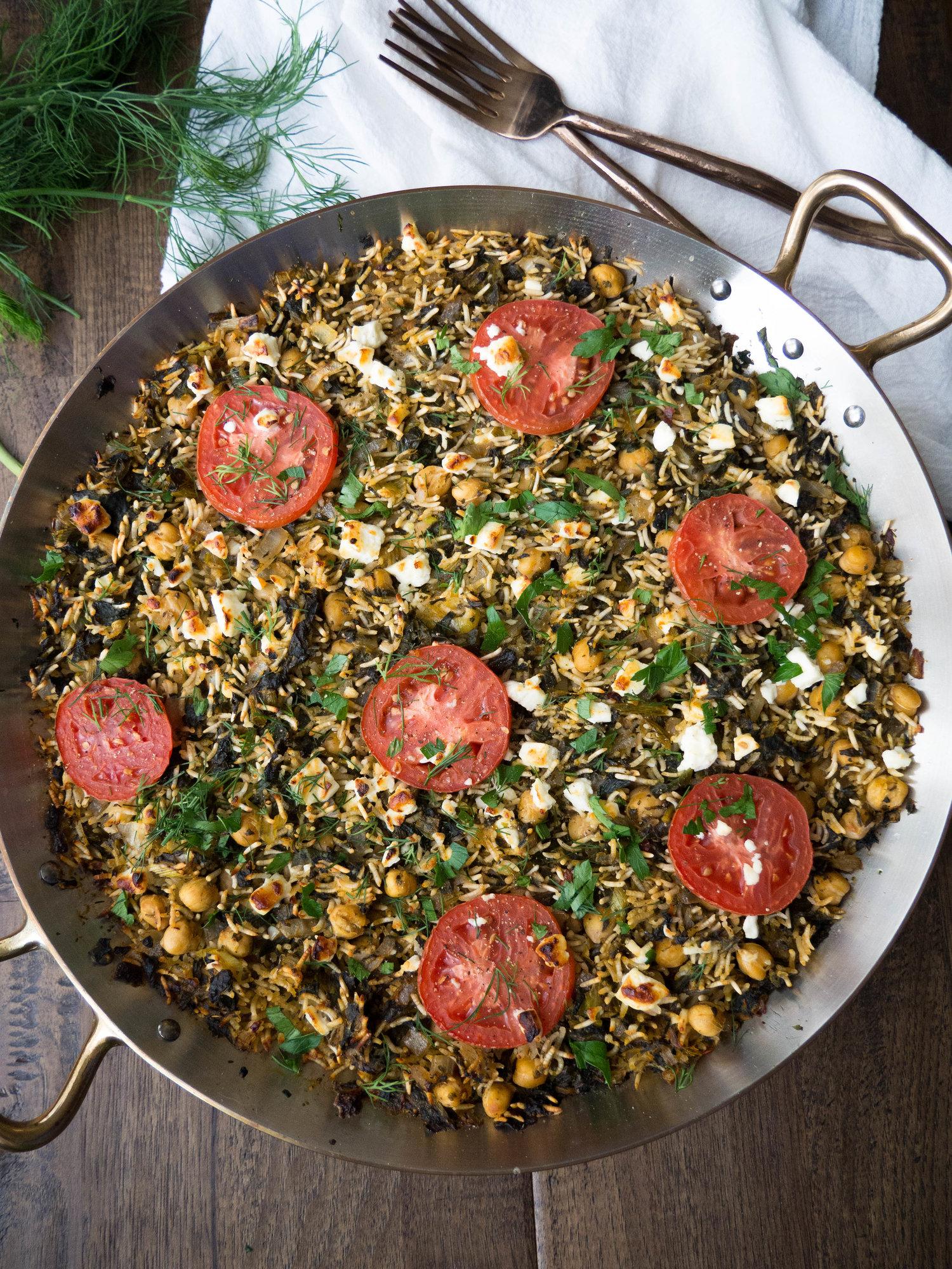 One Dish Vegetarian Greek Rice Casserole Recipe Registered Dietitian Columbia Sc Rachael Hartley Nutrition